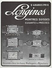 PUBLICITE  MONTRE LONGINES -  MONTRES SUISSES   WATCH    AD  1928 * 4G