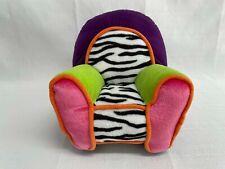 "Vintage 200 7"" Tall Plush Stuffed Chair for Groovy Girls Dolls Manhattan Toy"