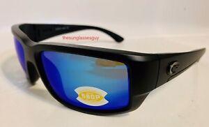 Costa Del Mar Fantail Blackout Frame Blue Mirror 580P plastic lens Sunglasses