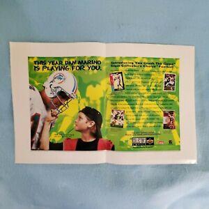 "DAN MARINO / UPPER DECK ""YOU CRASH THE GAME"" PROMO POSTER   1995    LOOK!!"