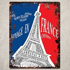 PP0087 Vintage PARIS Sign Rustic Parking Plate Home Restaurant Cafe Gift Decor