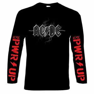AC DC, Power up, homme, manches longues, t-shirt, blouså, 100% coton