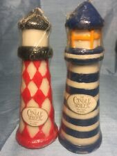Lighthouse The Candle Maker Light House Wax Candles 8� By Ganz Red White Blue