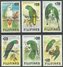 Philippines Oiseaux Cacatoes Cockatoo Birds kakadu Vogel ** 1984 Surch Specimen