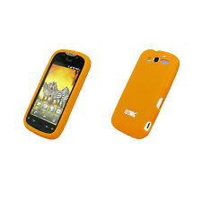 for HTC myTouch 2010 Orange Case Cover Silicone+Leather Pouch
