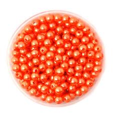 Lot 50 Perle imitation 6mm Orange Pour vos creation Bijoux, Collier, Bracelet