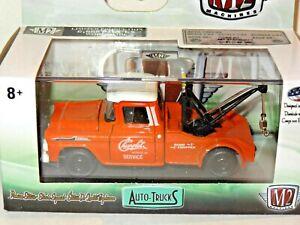 M2 MACHINES AUTO-TRUCKS R52- 1958 CHEVY APACHE TOW TRUCK 1:64- ORANGE