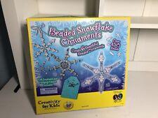 Creativity For Kids Beaded Snowflake Ornaments Kit Home School Art Crafts Winter
