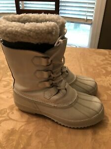 Off White Steel Shank Men's Insulated Lined Waterproof Winter Boots sz 11.  New