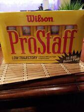 Vintage Wilson ProStaff Low Trajectory Balls 15 Pack Brand New Sealed