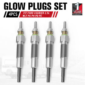 4x Glow Plugs Fit Ford Courier PG PH PD PE 2.5L Wl Wlt Turbo Diesel 96-06 Mazda
