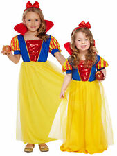 GIRLS SNOW WHITE PRINCESS FANCY DRESS COSTUME FAIRY TALE WORLD BOOK WEEK OUTFIT