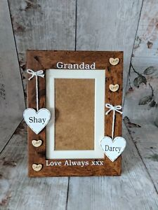 Personalised Grandad 4x6 picture photo frame, Gift for Grandad, From Grandkids