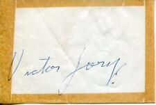 VICTOR JORY ACTOR IN GONE WITH THE WIND & THE GREEN HORNET SIGNED PAGE AUTOGRAPH