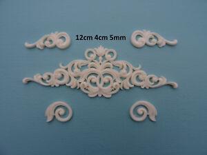 Decorative ornate center and scroll corners x 4 applique furniture moulding P19