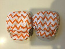New Listing2 Orange chevron newborn all in one diapers
