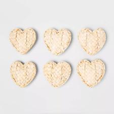 Opalhouse 6 Count Dried Corn Husk Woven Valentines Decor Heart Vase Filler