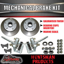 Galvanised Trailer Mechanical Disc Brake Kit.  S.G Cast discs Boat Caravan