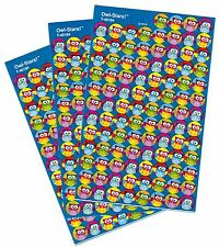 3 Sheets Colorful OWLS Reward MINI 300 Scrapbook Stickers!!