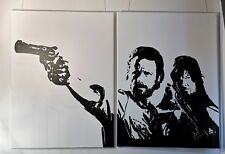 The Walking Dead Leinwand ges. 180 x 120cm 2-tlg. je 90x120 Rick  Daryl Bild Art