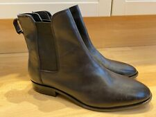 Dune Black Leather PAYETON Ankle Chelsea Boots Size 8