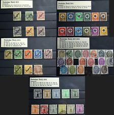 1923-1938 Deutsches Reich DIENSTMARKEN von Michel 99 bis 154, gestempelt