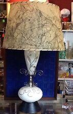 Atomic Age Mid-Century Lamp, Fiberglass Shade, COOL Retro!!  Deco!