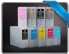 9 RIHAC Refillable cartridge for Epson Stylus Photo 3800 T5801 T5809 Cartridge