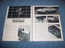 1956 Ferrari 410 Superfast Pinin Farina Coupe Speciale Vintage Article