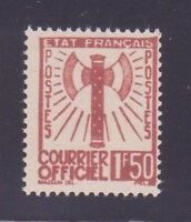 """FRANCE STAMP TIMBRE SERVICE N° 8 """" FRANCISQUE 1F50 BRUN-ROUGE """" NEUF xx TTB D620"""