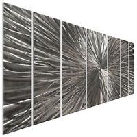 Metal Wall Art Sculpture Radiate Silver Contemporary Modern Home Decor Ash Carl