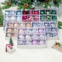 12X Christmas Tree Bauble Set Shatterproof Ornament Decoration Xmas Ball Festive