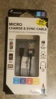 Travelocity Black Micro USB 4 ft Charge & Sync Cable