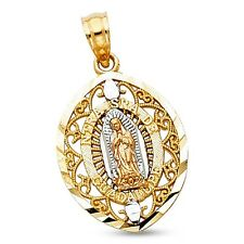 Guadalupe NTRA SRA DE Pendant 14k Yellow White Rose Gold Virgin Mary Charm