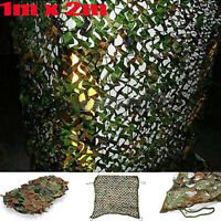 1m X 2m Camouflage Net Camo Hunting Shooting Hide Army Camping Woodland Netting