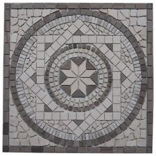 Naturstein Marmor Rosone 66x66 cm Mosaik Einleger Grau Creme Fliesen 053-66