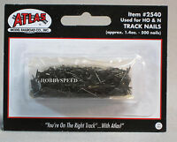 ATLAS HO & N SCALE TRAIN TRACK NAILS 500 PACK fastener pin black table 2540 NEW