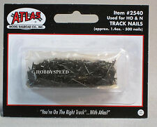 ATLAS HO & N SCALE TRAIN TRACK NAILS 500 PACK fastener pin black 2540 NEW