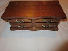 Jewerly Box, Novelty, Miniature Wood Dresser Drawer Design , Vintage