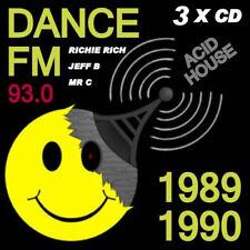 RAVE ACID HOUSE 3 DISC CD SET OLD SKOOL 1989-90 PIRATE RADIO DANCE FM 93.0