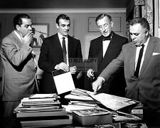 "SEAN CONNERY IAN FLEMING BROCCOLI & SALTZMAN ON ""DR. NO"" SET 8X10 PHOTO (ZZ-937)"