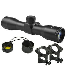 Compact 4X32 Riflescope .223 .308 Mil Dot Ret. Scope w/ 20mm Mount Ring F Huntin