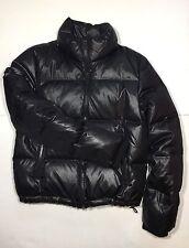 Michael Kors womens down puffer bomber jacket Black color coat Size M