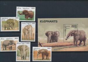 LN30919 Laos 1997 elephants animals wildlife fine lot MNH