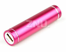 2600mAh Power Bank Portable Battery Charger For ipod The ipad MP3 MP4 Rose Red