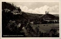 Bad Kösen Sachsen-Anhalt 1955 AK DDR Rudelsburg Saaleck Burg Festung ungelaufen