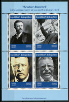 Madagascar 2019 MNH Theodore Roosevelt 4v M/S US Presidents Famous People Stamps