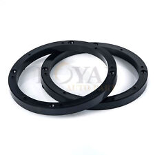 "Two 6.5"" Car Stereo Speaker Spacer Mounts 1/2"" Depth Ring Adapter Stackable Ai"