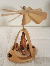 Lufthansa Wood Windhill Christmas Pyramid 4 kids Around a Tree Candle Holder