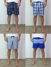 Mens Ex M&S Collection Check & Striped Swim Shorts